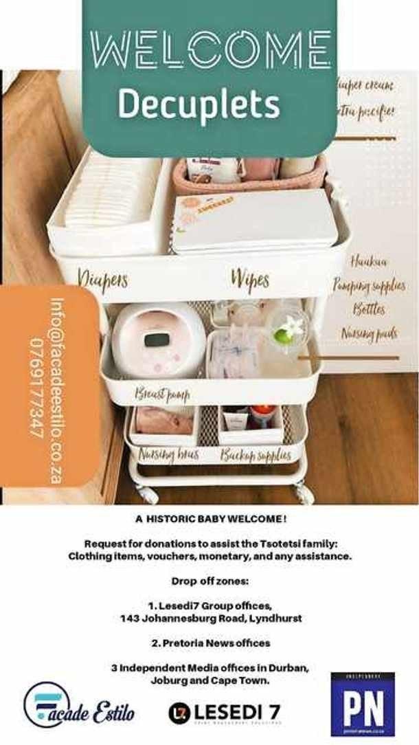 Família dos 10 bebês nascidos em parto único arrecada doações