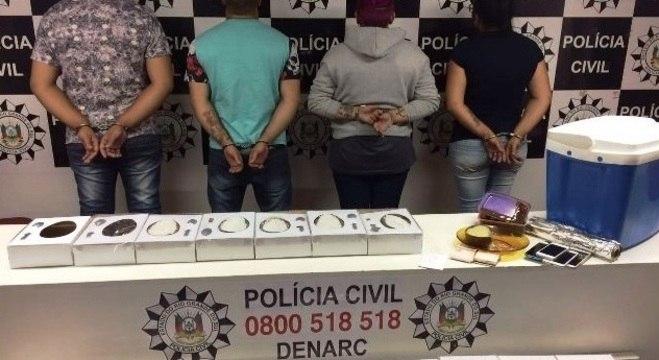 Quatro foram presos pela produção e venda de ovos de Páscoa com maconha