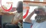 Um passageiro de ônibus aparentemente usou uma serpente de