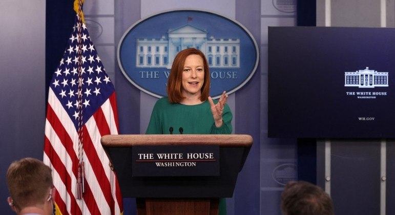 Anúncio foi feito por Jen Psaki, secretária de imprensa da Casa Branca