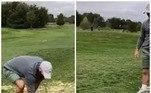 O jogador de golfe Charlie Smith, 30 anos, estava fazendo de tudo para dar a tacada perfeita, mas uma ave muito participativa atrapalhou os seus planos*Estagiária doR7, sob supervisão de Filipe Siqueira