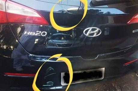 Carro de veterinária foi danificado por patinete