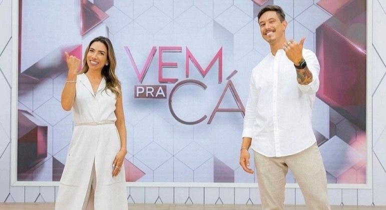 """Patrícia Abravanel e Gabriel Cartolano são os apresentadores do """"Vem Pra Cá"""""""
