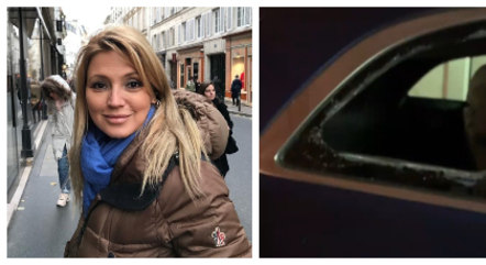 Atriz teve vidro do carro estourado
