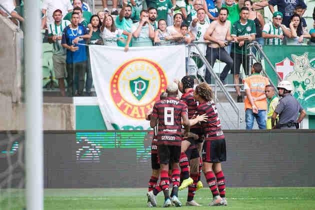 Patrimônio Líquido: Flamengo (R$ 128 milhões) e Palmeiras (R$ 60 milhões)