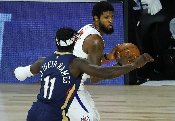 Paul George (Los Angeles Clippers) foi o cestinha na vitória diante do New Orleans Pelicans, na noite de sábado. George acertou oito arremessos (todos de três) em 17 tentativas para somar 28 pontos e três roubadas. Na derrota para o Los Angeles Lakers, na última quinta-feira, ele anotou 30 pontos