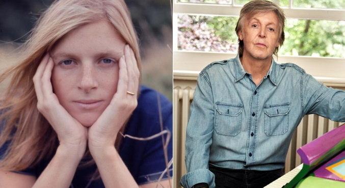 Foto de Linda McCartney compartilhada por Paul na web
