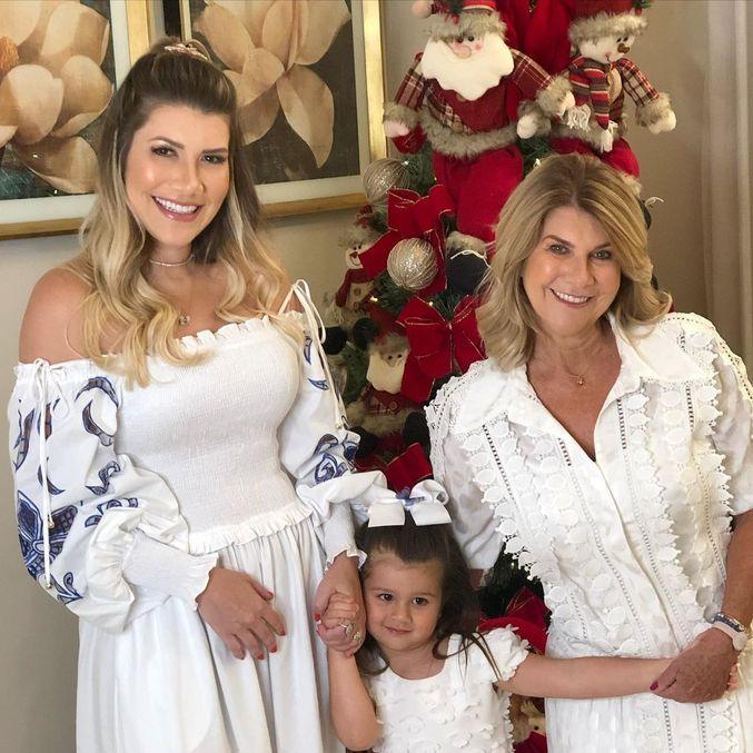 Paula Vaccari, mulher de Cristiano, e a mãe dela, Cidinha Silva