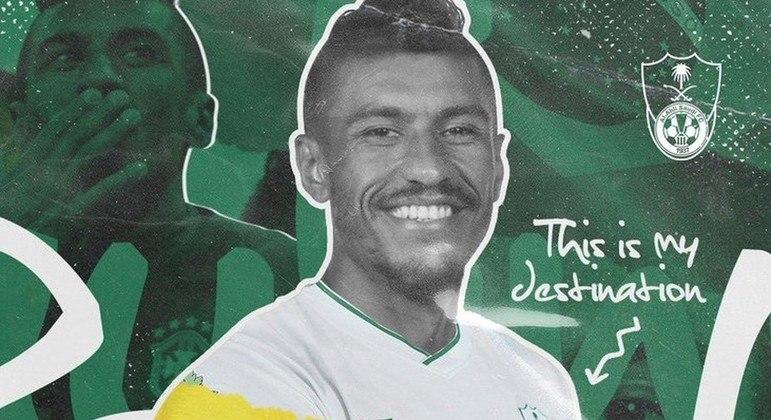 Paulinho foi anunciado hoje no Al Ahly. Salário de R$ 1,75 milhão a cada 30 dias
