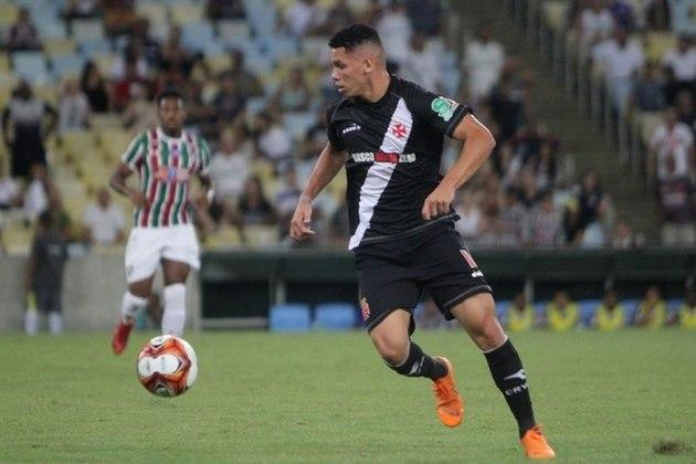 Paulinho - estreou em 2017 - 35 jogos e 7 gols pelo Vasco - Atualmente defende o Bayer Leverkusen, da Alemanha