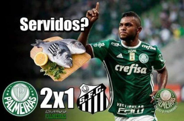 Paulistão 2017 (fase de grupos - 19/03/2017): o Palmeiras venceu o Santos na Vila Belmiro por 2 a 1 e os torcedores tiraram onda nas redes sociais