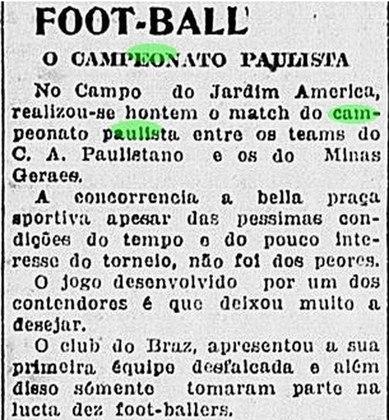 Paulistão foi finalizado no ano seguinte - Em setembro, mesmo com a epidemia, o Paulistão ainda continuava a ter jogos. No mês de novembro, ficou definido que o estadual seria retomado em dezembro e finalizado apenas no ano seguinte, em janeiro.