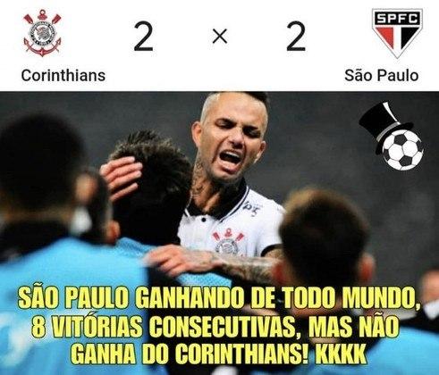 Paulistão: torcedores brincam nas redes sociais após empate por 2 a 2 no Majestoso