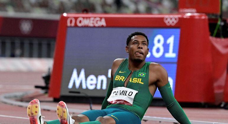 Paulo André ficou em último lugar na sua série e ficou de fora das finais dos 100 m rasos