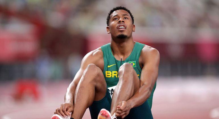 Paulo André após correr para 10s17 na prova dos 100m rasos