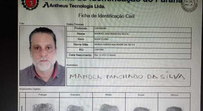Paulo Cupertino, assassino de Rafael Miguel, tirou RG falso com nome de Manoel Machado da Silva