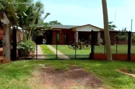 Esconderijo de Cupertino na cidade paraguaia de Liberação