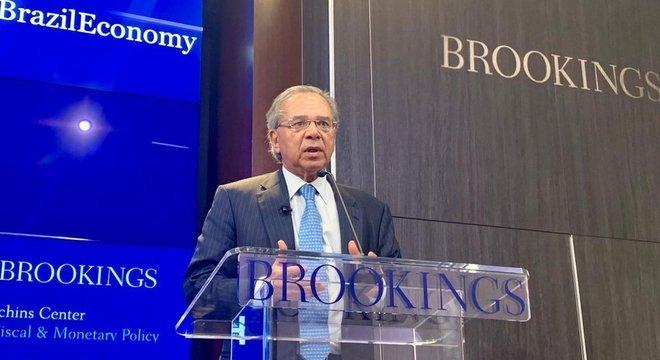 Ministro da Economia Paulo Guedes em Washington