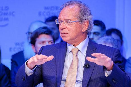 O ministro da Economia, Paulo Guedes, em Davos