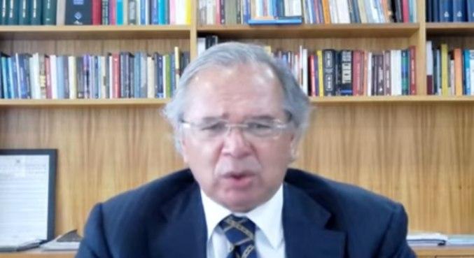 Em coletiva, o ministro Paulo Guedes voltou a afirmar que é necessário acelerar o ritmo de vacinação
