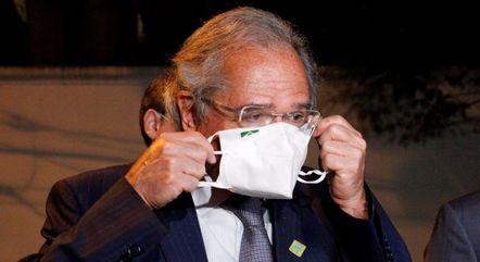 Ministro Paulo Guedes após o jantar em SP
