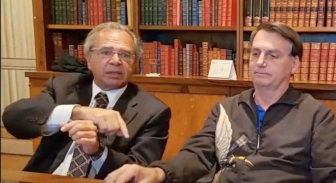 Ministro afirmou que governo estuda benefício em live com Bolsonaro