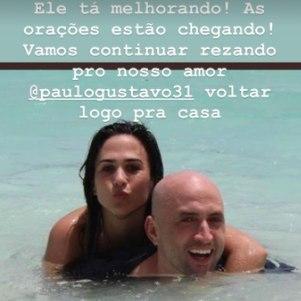 Tatá falou sobre estado de saúde de Paulo Gustavo