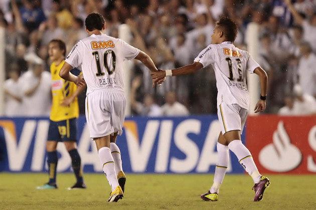 Paulo Henrique Ganso (1 gol) – Ganso perdeu boa parte do mata-mata daquela Libertadores, por conta de uma lesão muscular, mas foi dele o gol que deu a classificação às quartas de final. No primeiro jogo das oitavas de final, contra o América (MEX), na Vila Belmiro, fez o gol solitário da vitória por 1 a 0. Na partida de volta, em solo mexicano, o 0 a 0 colocou o Peixe na fase seguinte.
