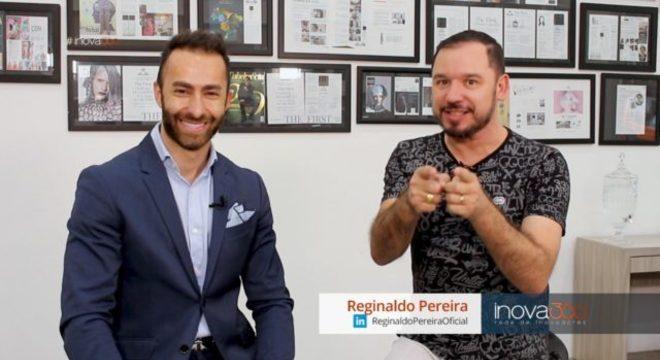 Paulo Kazacs e Reginaldo Pereira durante as gravações