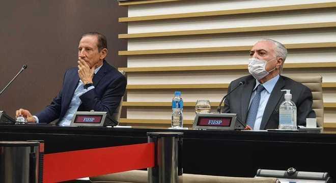 Paulo Skaf e Michel Temer irão participar da comitiva brasileira no Líbano
