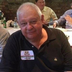 Paulo Stein no encontro realizado pelos ex-funcionários da TV Manchete