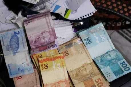 Dinheiro apreendido em operação da Polícia Civil