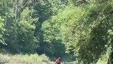 Homem diz ter filmado pé-grande carregando um bebê em rio