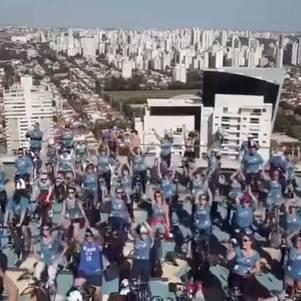Evento acontece no heliponto de hotel da zona sul de São Paulo