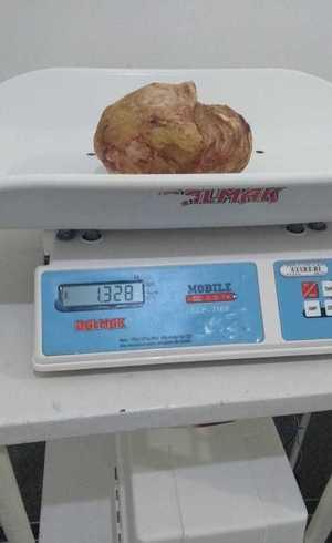 Pedra pesa 1,328 kg