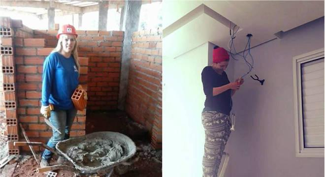 Geny do Carmo e Kethy Molina, trabalhadoras da área de construção civil