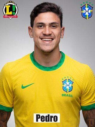 Pedro -6,5 : Fez sua estreia pela Seleção Brasileira ao entrar em campo aos 30 da etapa final. Tentou uma bicicleta mas não acertou a bola e fez um bom pivô para chute de Firmino.