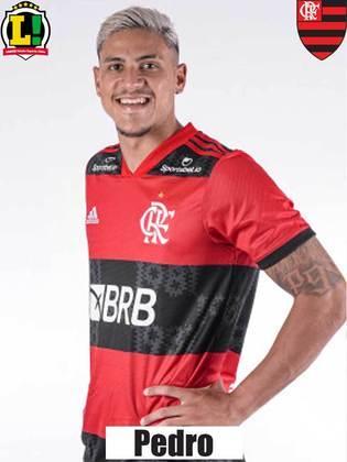 Pedro - 8,5 - Foi um dos melhores jogadores do Flamengo ao lado de Michael. Além do gol de cabeça, buscou participar da partida e encontrou espaços entre as linhas do Fortaleza. Foi muito bem no pivô e distribuiu bons passes.