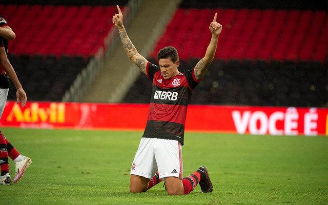 Pedro - Clube: Flamengo - Seleção: Brasil olímpico - Prováveis jogos que perderá: Palmeiras (30/05) - Brasileirão / Coritiba (02/06) - Copa do Brasil ida / Grêmio (05/06) - Brasileirão / Coritiba (09/06) - Copa do Brasil volta.
