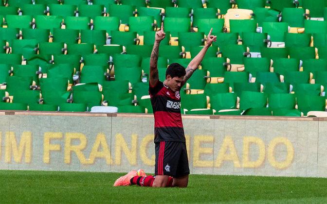 PEDRO - CONTRATO ATÉ: 31/12/2020 (empréstimo) / Posição: atacante / Nascimento: 20/06/1997 (23 anos) / Jogos pelo Flamengo: 19 / Títulos pelo Flamengo: Carioca, Supercopa do Brasil e Recopa Sul-Americana.