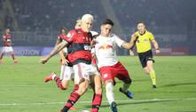 Flamengo empata com Bragantino e segue 11 pontos atrás do Atlético