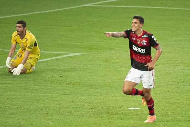 PEDRO- Flamengo (C$ 4,75) Dificilmente deixa de marcar seu gol quando atua como titular. Jogando contra o Bragantino, que está na zona de rebaixamento , tem tudo pra deixar sua marca no Maracanã, caso sua participação seja confirmada para o jogo desta quinta!