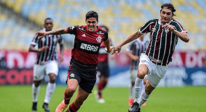Hoje no Flamengo, Pedro marcou o primeiro gol contra o Fluminense no Maracanã