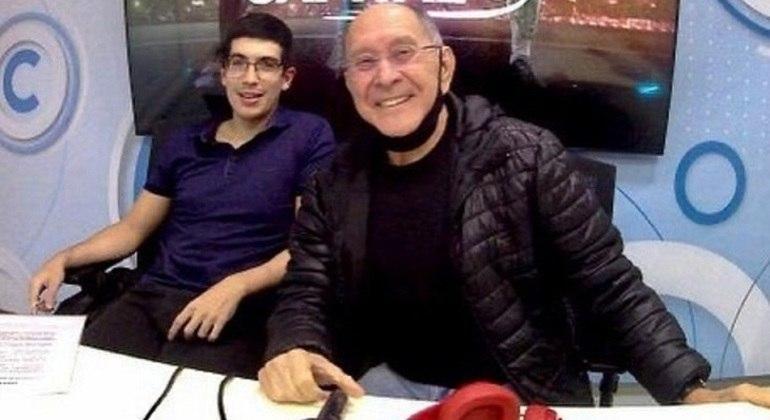 Pedro Martelli e José Silvério, representantes de duas gerações diferentes do rádio esportivo