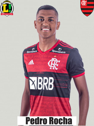 Pedro Rocha - 6,5 - Principal opção de ataque do Flamengo no primeiro tempo. Deu muito trabalho para Kevin e fez boa partida. Não teve medo de partir para cima e foi incisivo no um contra um. A partir de um cruzamento, criou boa chance para Bruno Henrique.