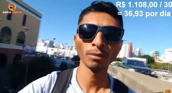 """Em vídeo chamado """"Estou perdendo dinheiro?"""", Pedro diz que poderia ganhar mais se largasse o emprego fixo"""