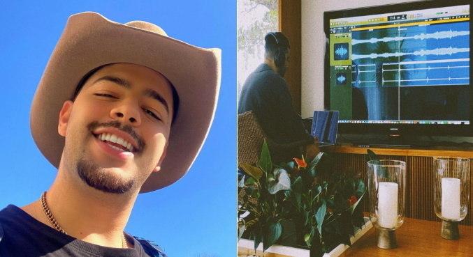 Na web, Pedro Sampaio mostrou que está trabalhando em seu primeiro álbum