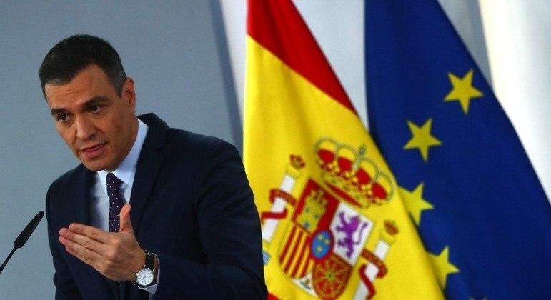 Comunicado foi feito pelo presidente do governo espanhol, Pedro Sánchez