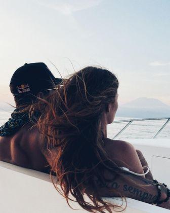 Na quarta-feira (26), eles visitaramNusa Penida, uma ilha na Indonésia.