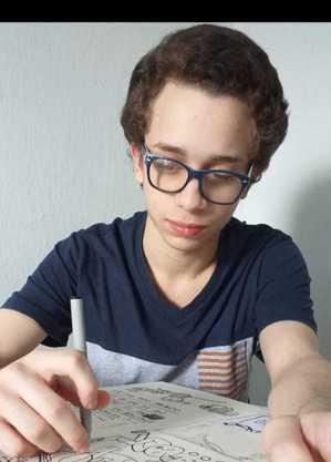 Pedro Vinício cria as imagens de todas as postagens